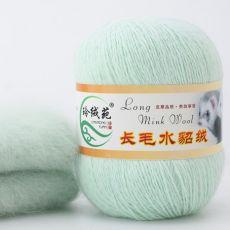 Пряжа Пух норки, цвет № 036 (Мятно-зеленый)