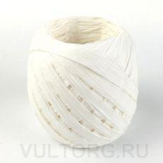Пряжа Рафия бумажная, цвет № G14 (Белый)