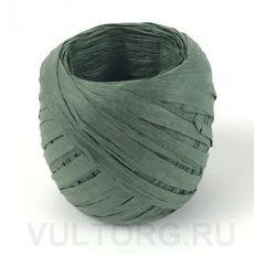 Пряжа Рафия бумажная, цвет № G16 (Зеленый армейский)