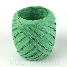 Пряжа Рафия бумажная, цвет № G28 (Молодая трава)