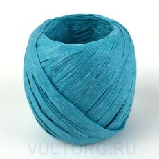 Пряжа Рафия бумажная, цвет № G3 (Голубое озеро)