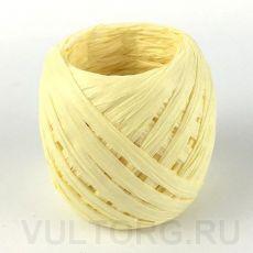Пряжа Рафия бумажная, цвет № G35 (Светло-желтый)