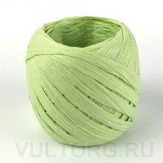 Пряжа Рафия бумажная, цвет № G40 (Салатовый)