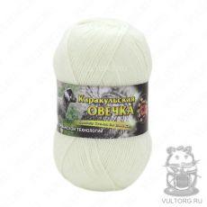 Пряжа Каракульская овечка Color City, цвет № 2001 (Белый)