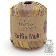 Пряжа Fibra Natura Raffia Multi, цвет № 117-04