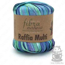 Пряжа Fibra Natura Raffia Multi, цвет № 117-11