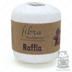 Пряжа Raffia Fibra Natura, цвет № 116-01 (Белый)