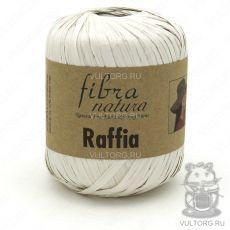 Пряжа Raffia Fibra Natura, цвет № 116-15 (Белый)