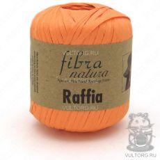 Пряжа Raffia Fibra Natura, цвет № 116-19 (Оранжевый)