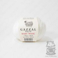 Пряжа Gazzal Baby Wool, цвет № 801 (Белый)