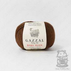 Пряжа Gazzal Baby Wool, цвет № 807 (Коричневый)