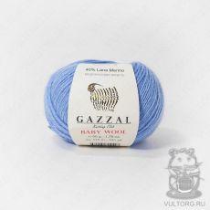 Пряжа Gazzal Baby Wool, цвет № 813 (Голубой)