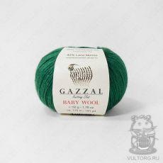 Пряжа Gazzal Baby Wool, цвет № 814 (Зеленый)