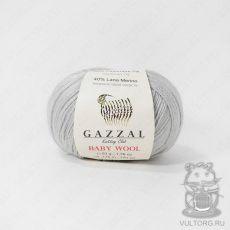 Пряжа Gazzal Baby Wool, цвет № 817 (Светло-серый)