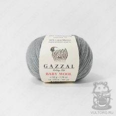 Пряжа Gazzal Baby Wool, цвет № 818 (Темно-серый)