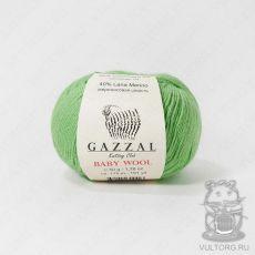 Пряжа Gazzal Baby Wool, цвет № 821 (Салатовый)