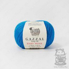 Пряжа Gazzal Baby Wool, цвет № 822 (Морская волна)