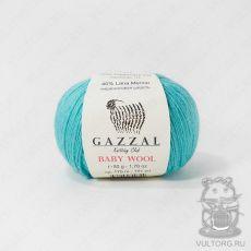 Пряжа Gazzal Baby Wool, цвет № 832 (Бирюзовый)