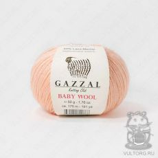 Пряжа Gazzal Baby Wool, цвет № 834 (Персиковый)
