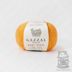 Пряжа Gazzal Baby Wool, цвет № 837 (Оранжевый)
