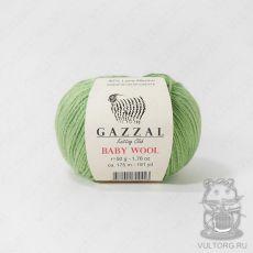 Пряжа Gazzal Baby Wool, цвет № 838 (Салатовый)