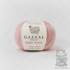 Пряжа Gazzal Baby Wool, цвет № 845 (Сухая роза)