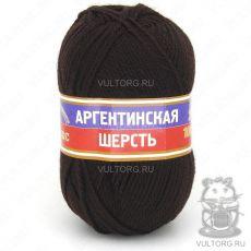 Пряжа Аргентинская шерсть Камтекс, цвет № 063 (Шоколад)