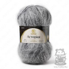 Пряжа Камтекс Астория, цвет № 7-406 (Серый меланж)