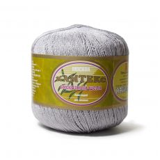 Пряжа Камтекс Вискозный шелк блестящий, цвет № 008 (Серебристый)
