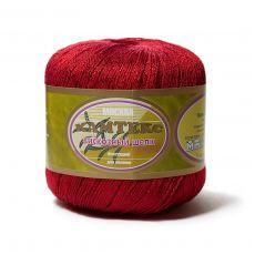 Пряжа Камтекс Вискозный шелк блестящий, цвет № 046 (Красный)