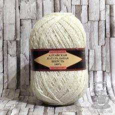 Пряжа Алтайская натуральная шерсть 01 (Белый)