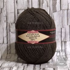 Пряжа Алтайская натуральная шерсть 03 (Коричневый)