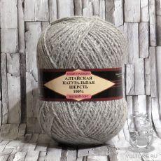 Пряжа Алтайская натуральная шерсть 04 (Светло-серый)