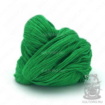 Пасма (Карачаевская пряжа) цвет № 21 (Зеленый попугай)