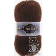 Пряжа Nako Mohair Delicate, цвет № 6106 (Коричневый)