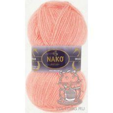 Пряжа Nako Mohair Delicate, цвет № 6115 (Светло-коралловый)