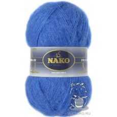 Пряжа Nako Mohair Delicate, цвет № 6121 (Голубой)