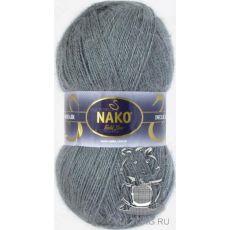 Пряжа Nako Mohair Delicate, цвет № 6129 (Темно-серый)