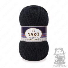 Пряжа Nako Spaghetti, цвет № 217 (Черный)