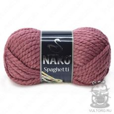 Пряжа Nako Spaghetti, цвет № 327 (Сухая роза)