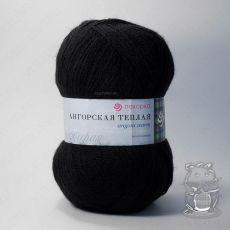 Пряжа Пехорка Ангорская теплая, цвет № 02 (Черный)