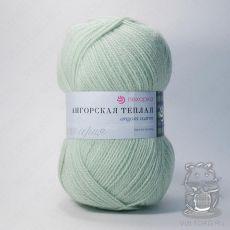 Пряжа Пехорка Ангорская теплая, цвет № 09 (Зеленое яблоко)