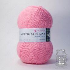 Пряжа Пехорка Ангорская теплая, цвет № 11 (Ярко-розовый)