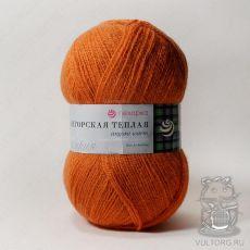 Пряжа Пехорка Ангорская теплая, цвет № 189 (Ярко-оранжевый)