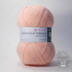 Пряжа Пехорка Ангорская теплая, цвет № 265 (Розовый персик)