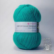 Пряжа Пехорка Ангорская теплая, цвет № 335 (Изумруд)