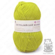 Пряжа Австралийский меринос Пехорка, цвет № 463 (Флавиновый)