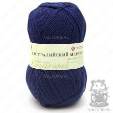 Пряжа Австралийский меринос Пехорка, цвет № 571 (Синий)