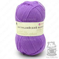 Пряжа Австралийский меринос Пехорка, цвет № 389 (Светлая фиалка)