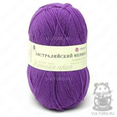 Пряжа Австралийский меринос Пехорка, цвет № 567 (Тёмная фиалка)